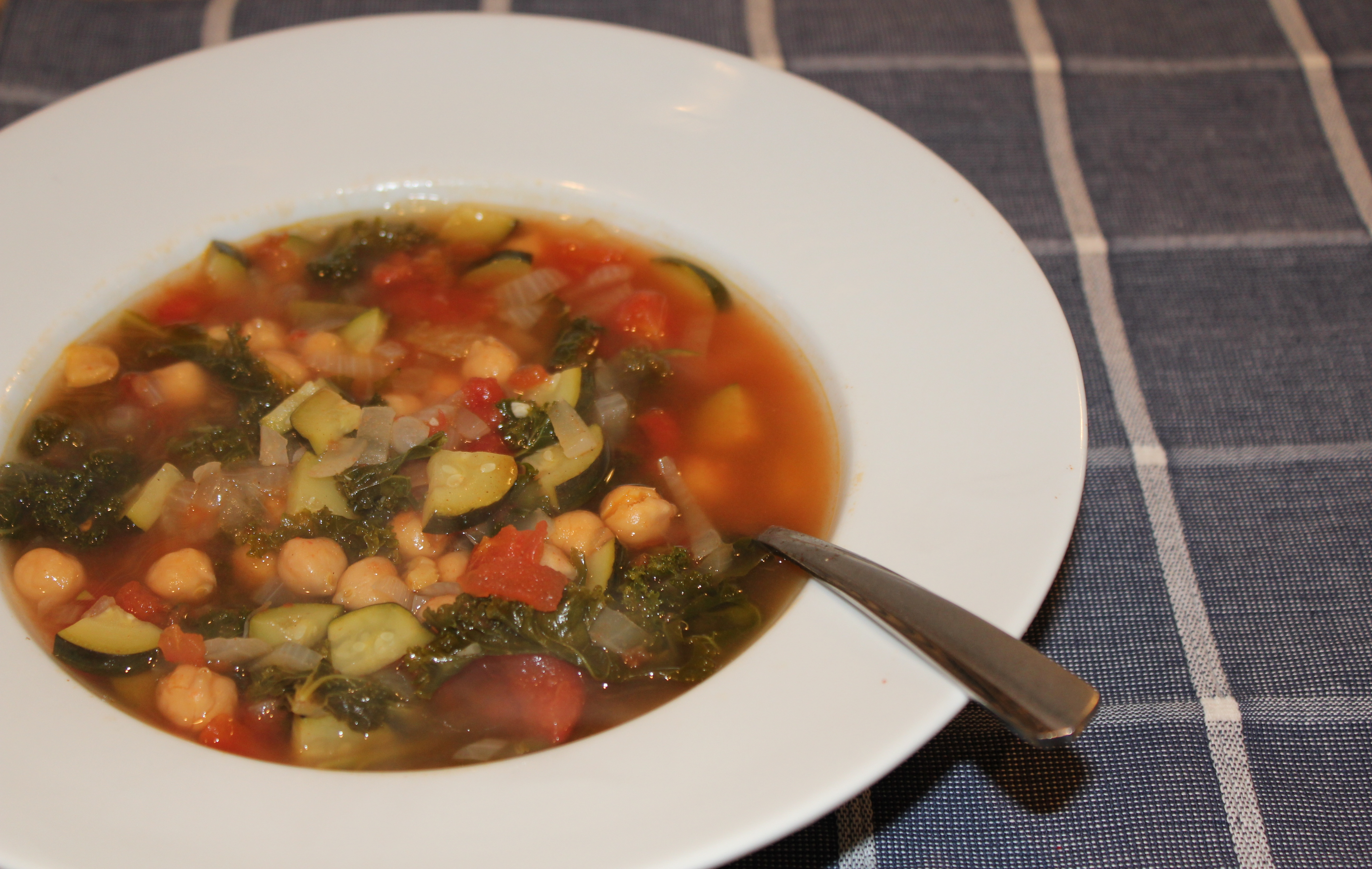 "Healthy Soup Recipes: Kale Chickpea and Chicken ""Noodle"""