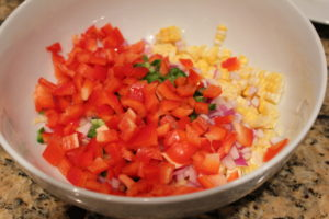 corn, jalapenos, pepper, onion