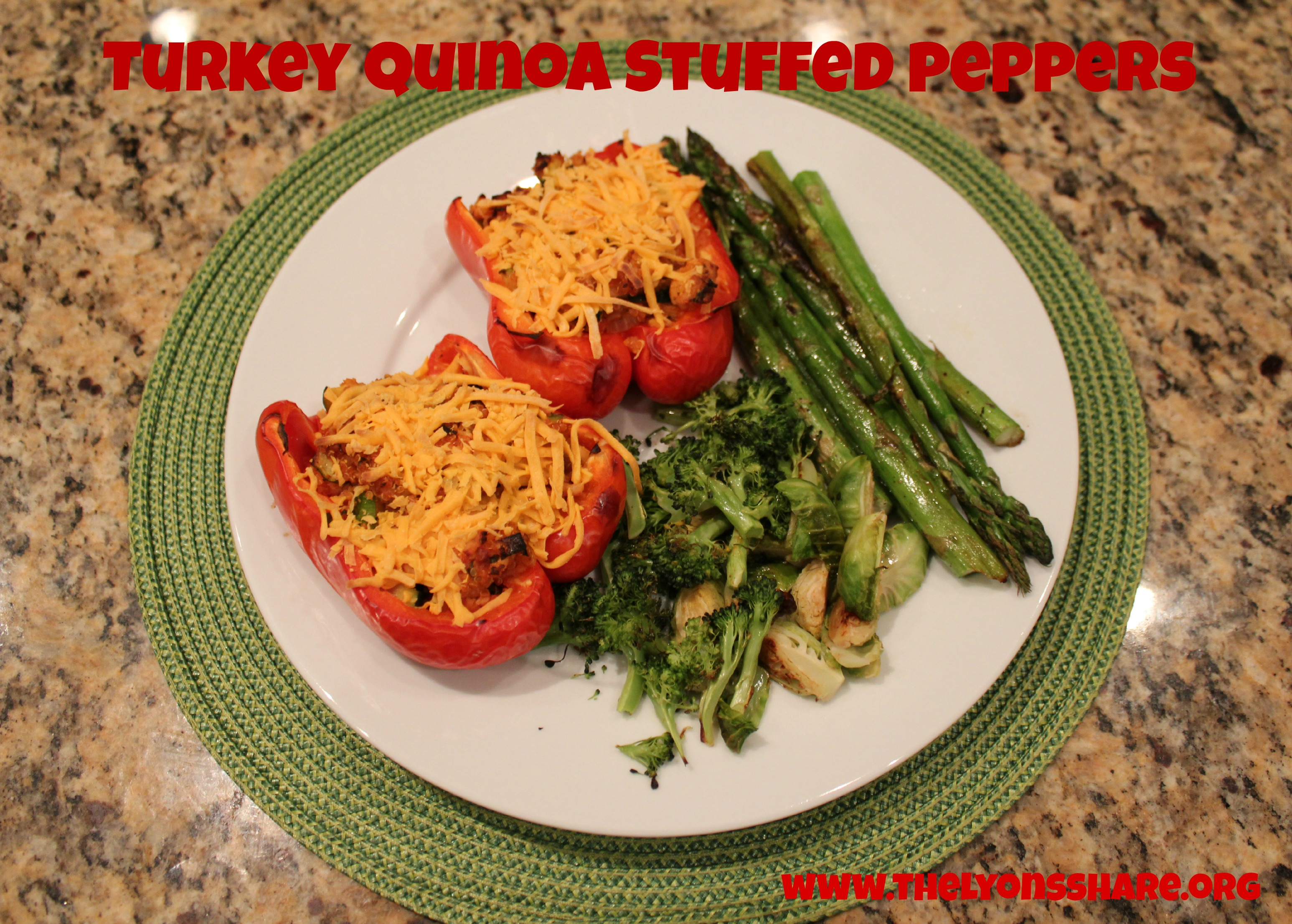 Turkey Quinoa Stuffed Peppers Recipe
