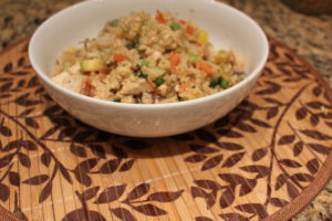 healthy cauliflower chicken fried rice