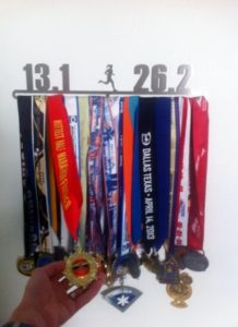 adding 20th half marathon medal