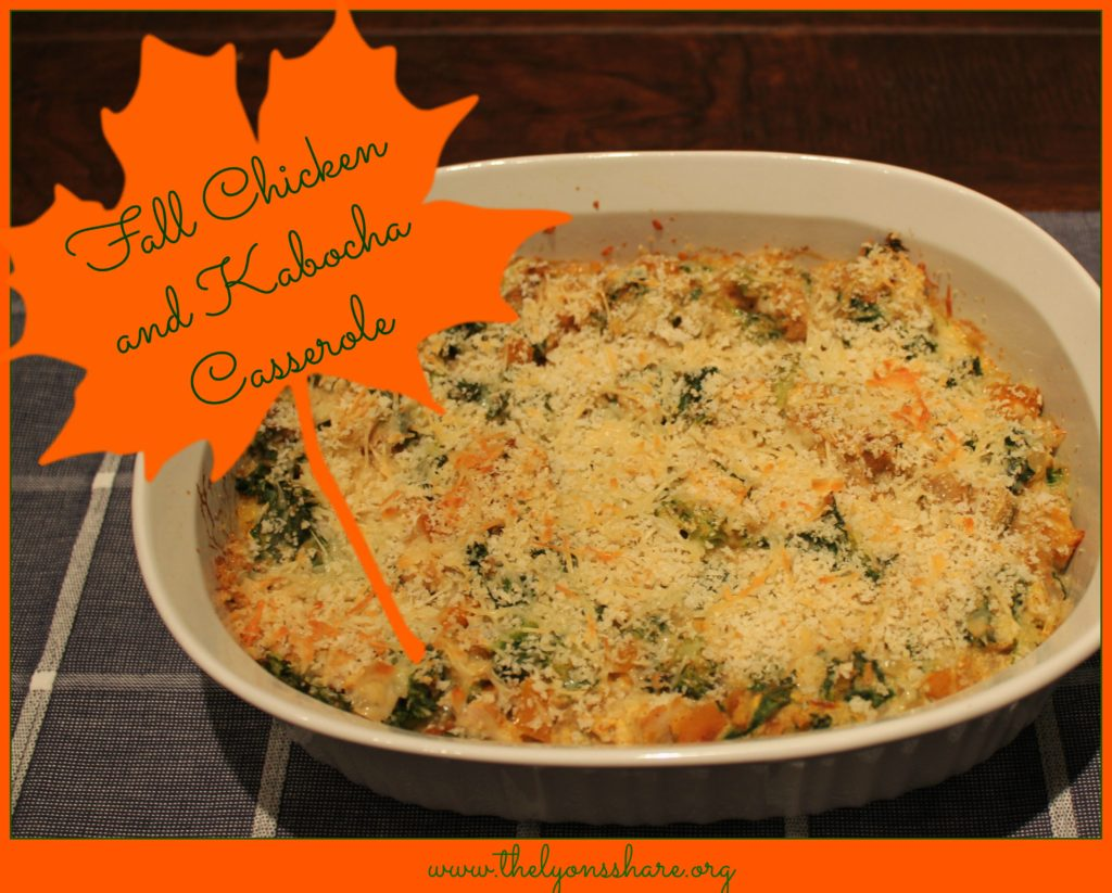 Fall Chicken and Kabocha Casserole from The Lyons Share