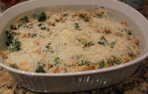add parmesan and panko