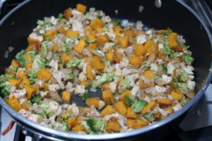chopped squash and veggies