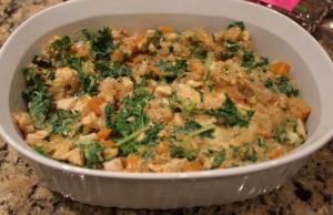 place into casserole dish