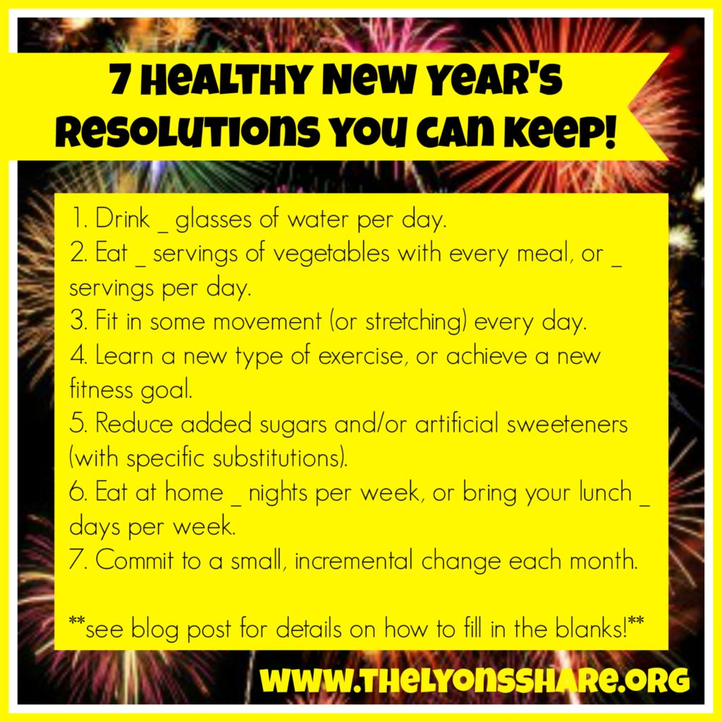 7 Healthy New Year's Resolutions You Can Keep