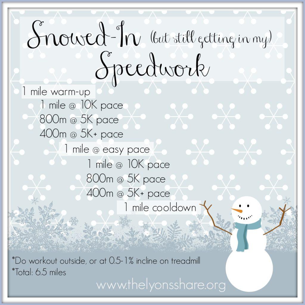 Snowed In Speedwork