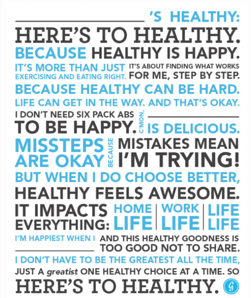 here's to healthy - blog 3.31.14