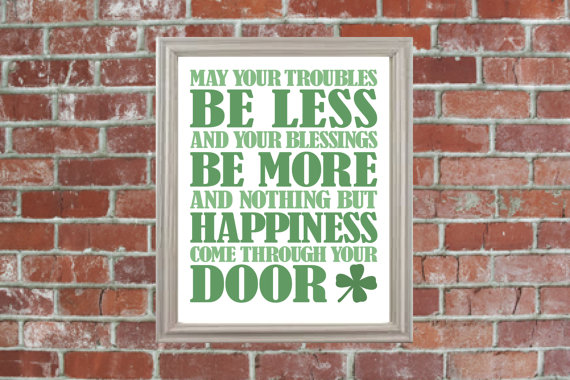 irish blessing happiness