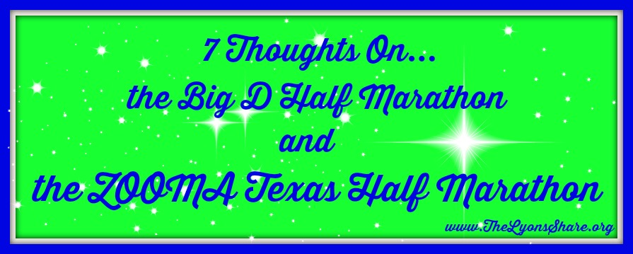 7 thoughts on big d half marathon and zooma texas half marathon