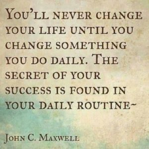 change something in your daily routine - blog 4.14.14