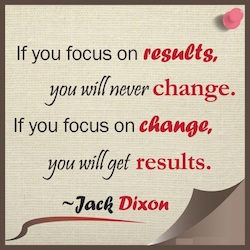 focus on change