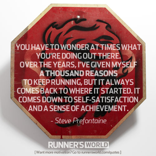 running for self satisfaction - blog 4.13.14
