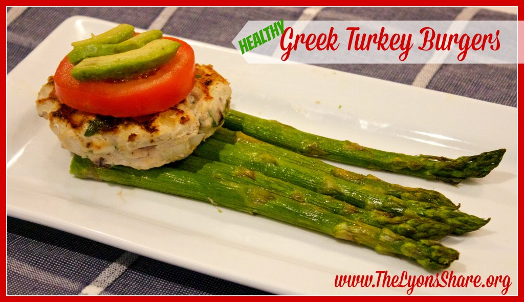Healthy Greek Turkey Burgers from The Lyons Share