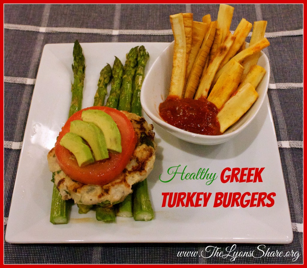 Healthy Greek Turkey Burgers from The Lyons Share 2