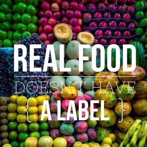 real food doesn't have a label