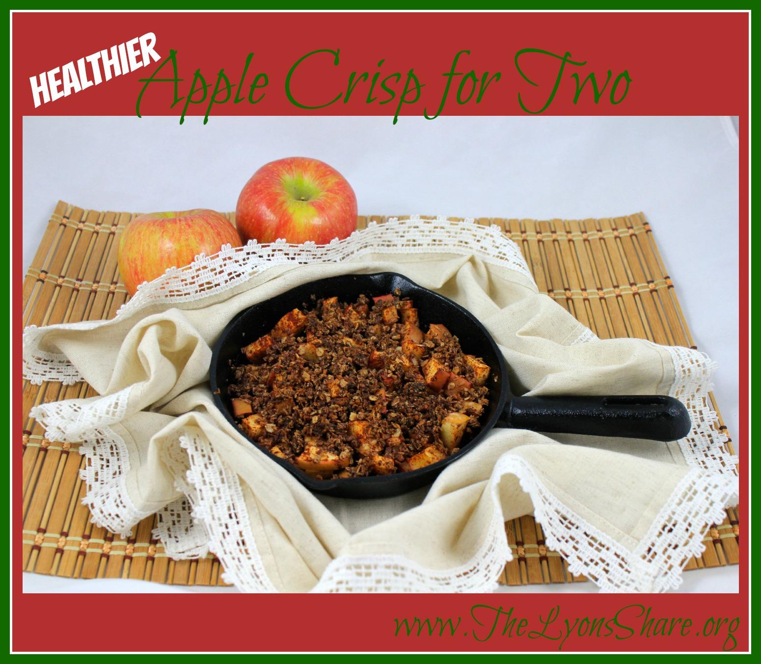 Healthier Apple Crisp for Two!