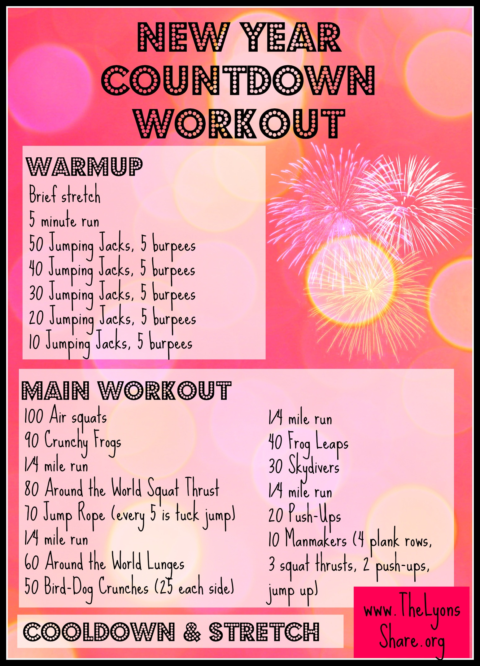 New Year Countdown Workout