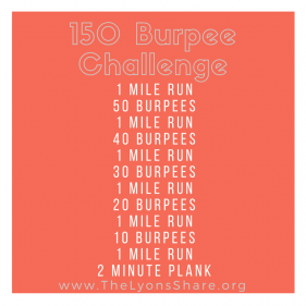 Cabo Workout (2 of 4): 150 Burpee Challenge!