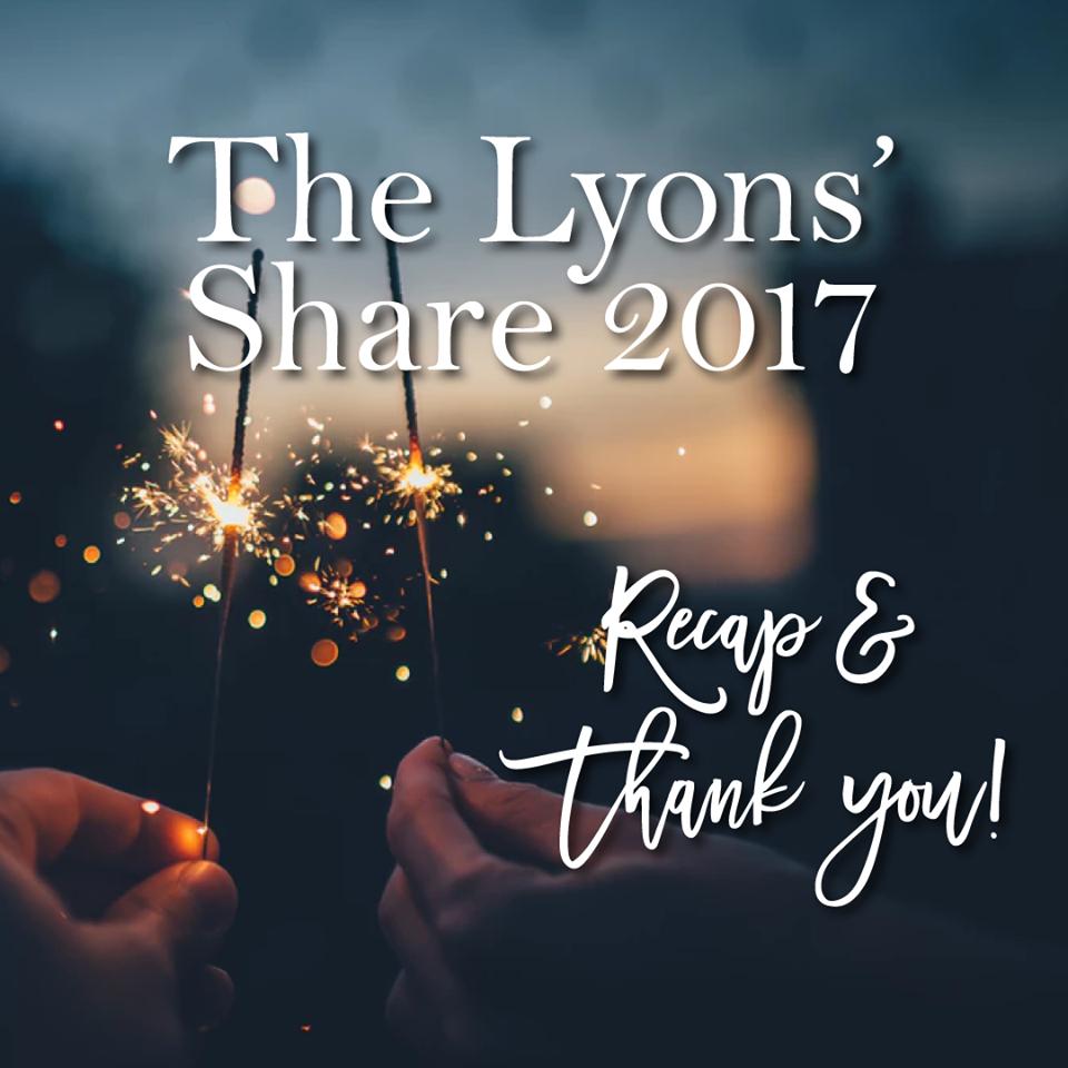 2017 recap video the lyons share