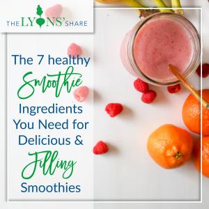 healthy smoothie ingredients