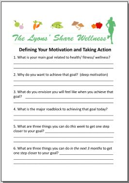 Defining your Motivation and Taking Action