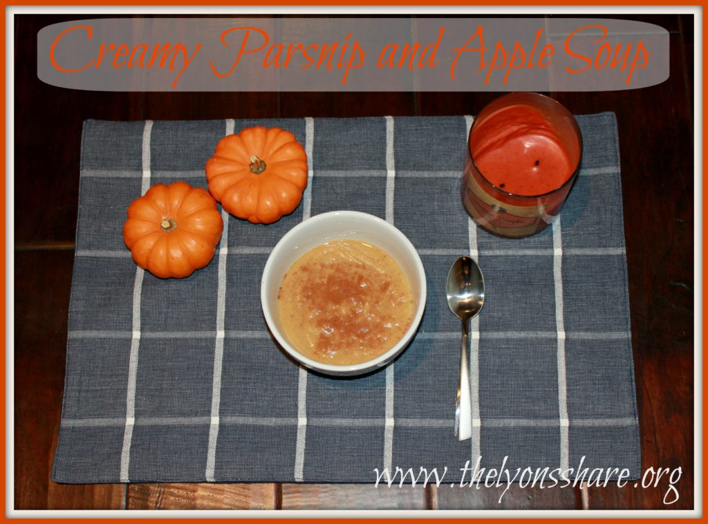 Creamy parsnip and apple soup The Lyons' Share