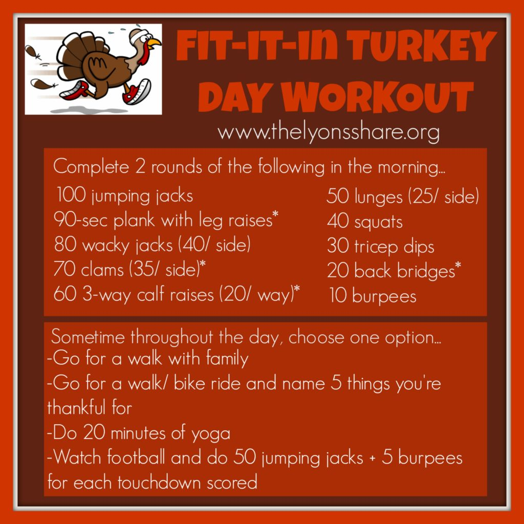 Fit It In Turkey Day Workout from The Lyons Share