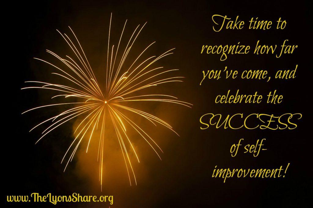 celebrate the success of self-improvement
