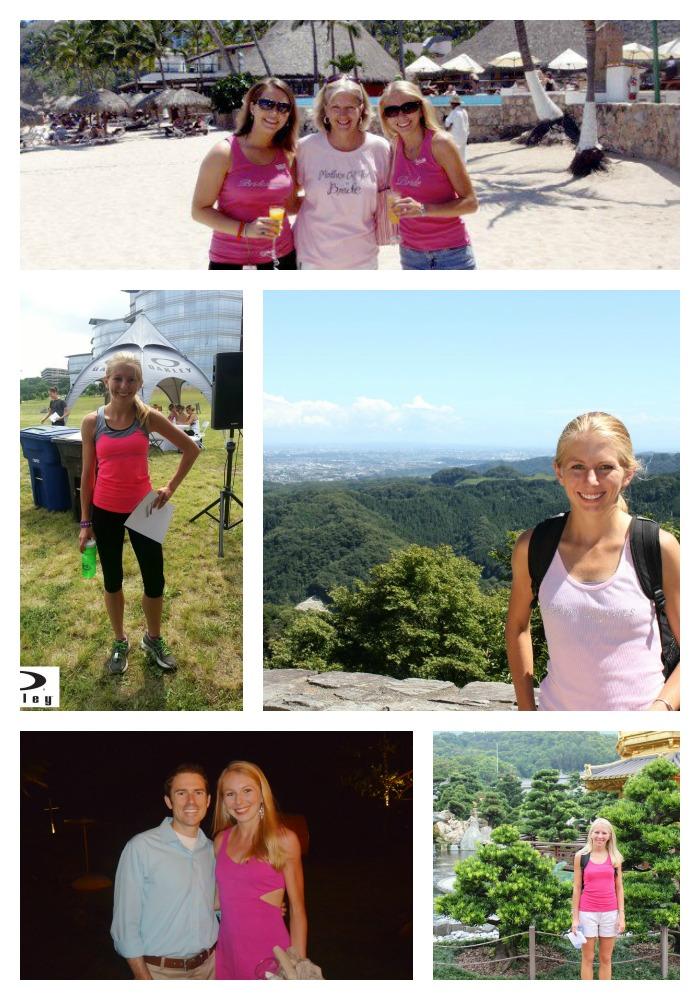 megan pink collage