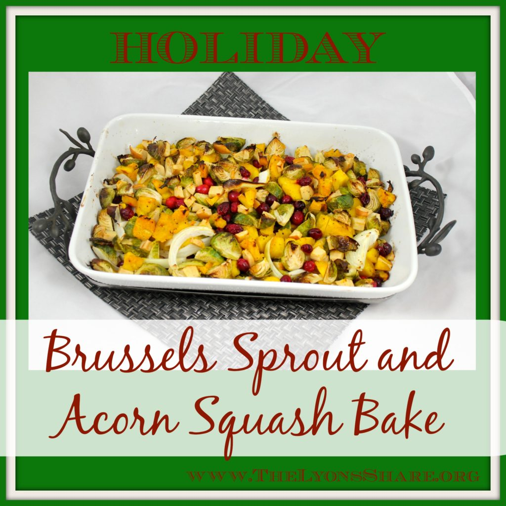 brussels sprout and acorn squash bake