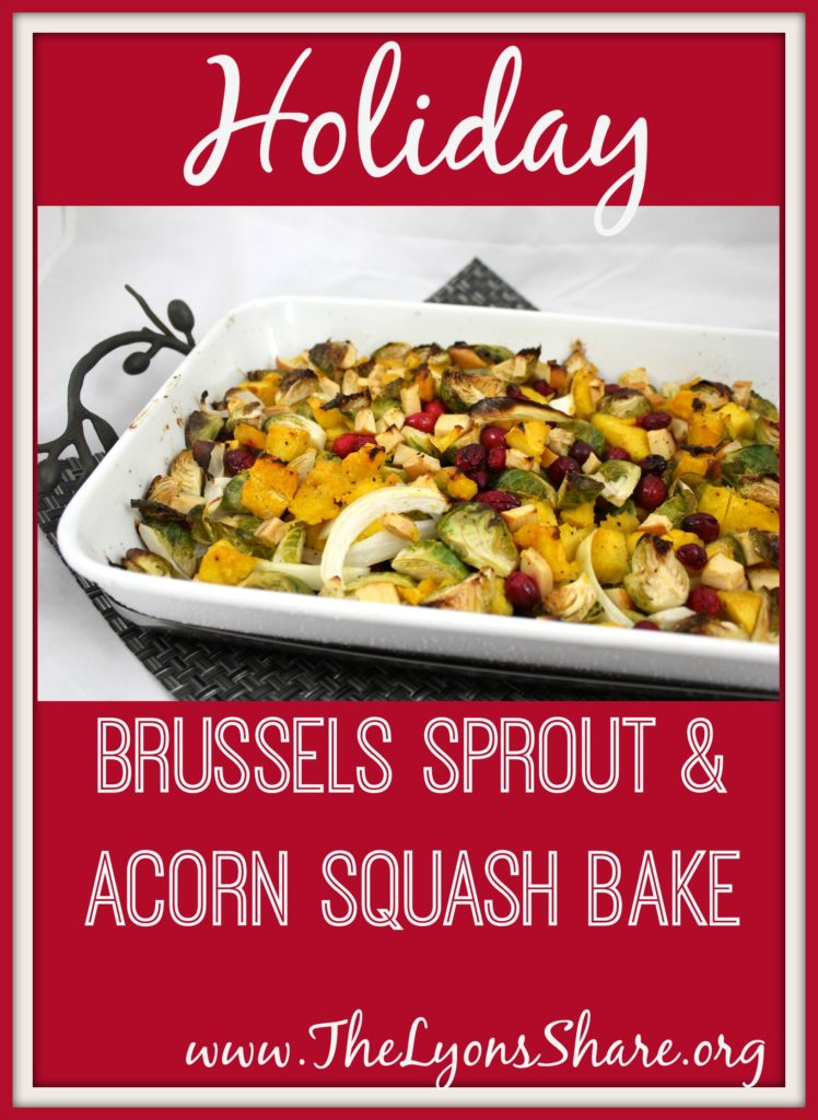 holiday brussels sprout and acorn squash bake